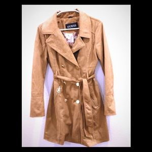 🧥Guess Faux Suede Trench Coat 🧥